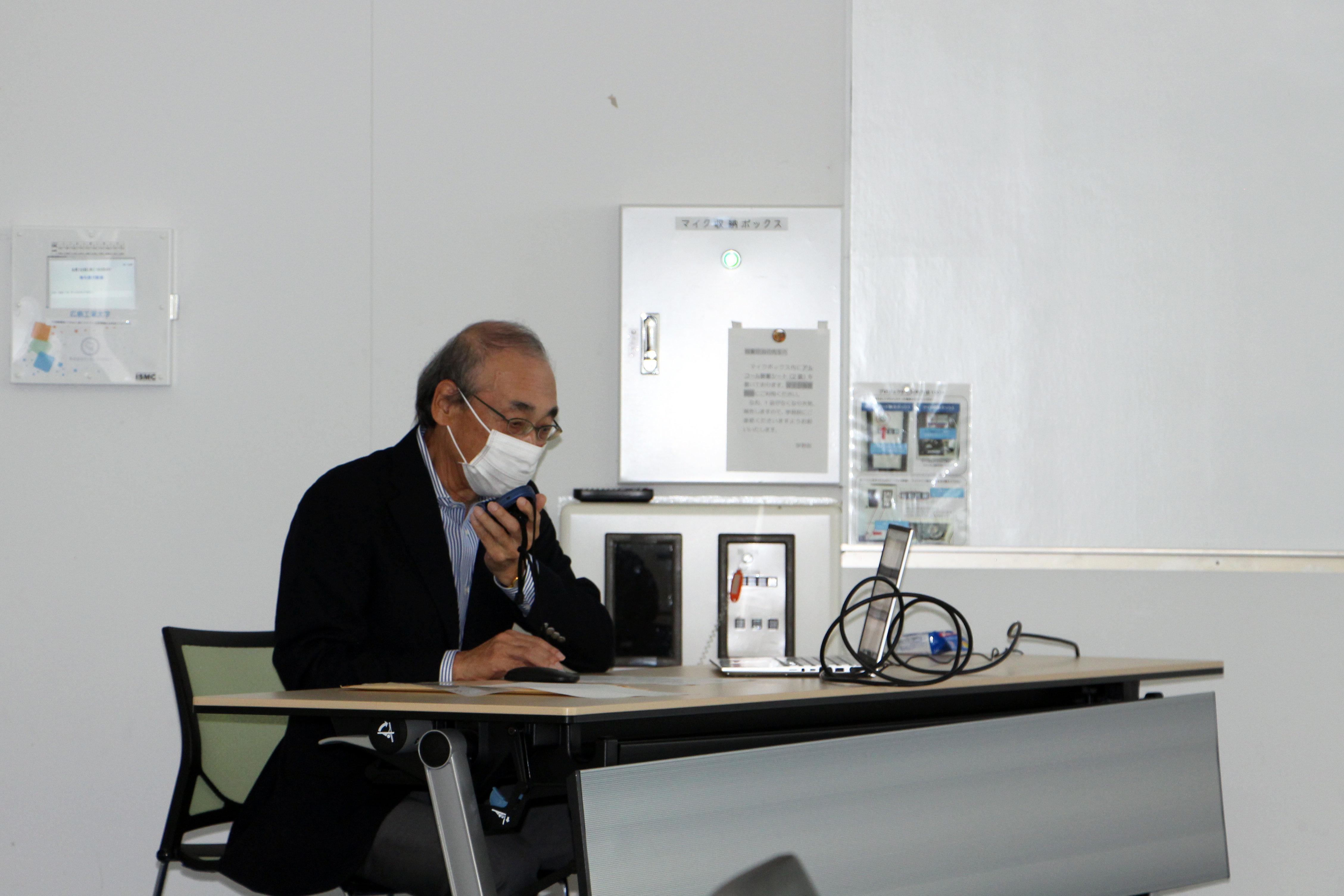 産業界や公的機関など様々な場面で活躍する「技術士」について説明される大田中国本部長