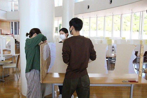 食堂への設置も学生の手で