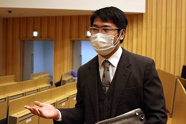 HIT VR Project代表の安部貴弘さん(知的情報システム学科3年)