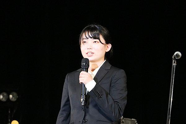 金舛さんは文化局に入って3年目。裏方から舞台を支える経験がしたいと実行委員長に立候補した