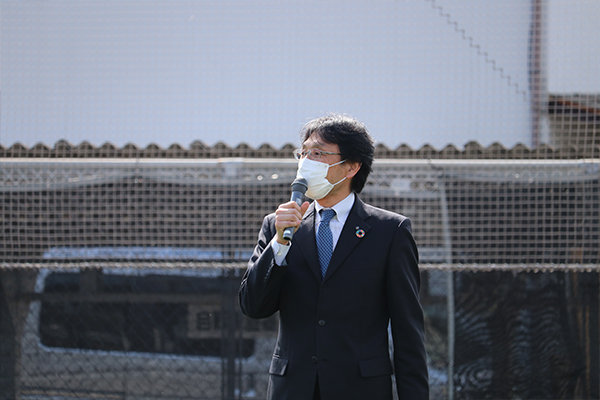 開会式では「学部を超えた友達ができるのがJCDの良いところ。活用して充実した学生生活を送って欲しい」と長坂学長の挨拶からスタート。