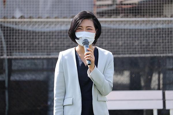 今年度からJCDセンターの外部顧問にお迎えした笹木先生からは「女子学生のキャリアアップを全力で応援する」と力強いコメント。