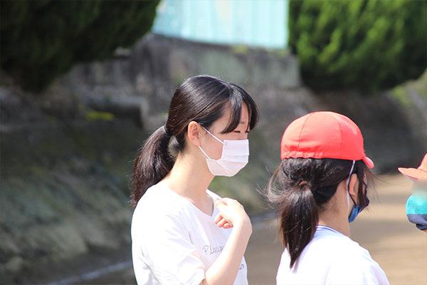 「小学生と交流が楽しく良い経験になった。環境教室にも力を入れたい」と話す坂𠮷さん(高知県立岡豊高等学校/高知県)