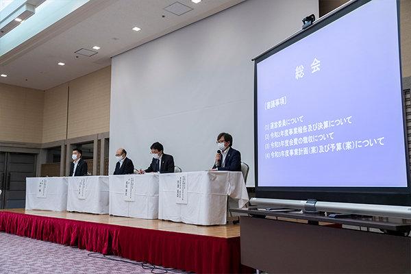 講演会後、広島工業大学地域連携技術研究協力会の総会が開催されました。コロナ禍の中ではあるがオンラインを十分に活用し、連携を深めていこうとの意志を確認し合いました