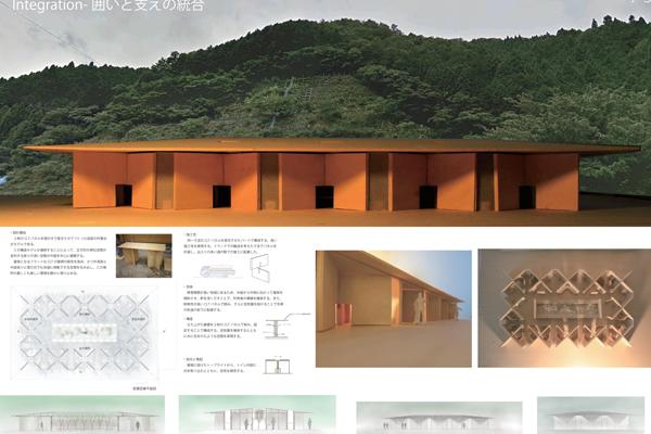 施工イメージ。屋根もCLTでできており、天窓を付けることで、採光性と換気性に優れた作りになっています。