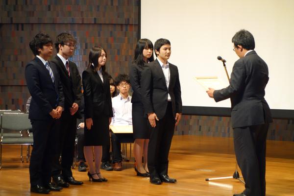 2月20日に行われた授賞式の様子。