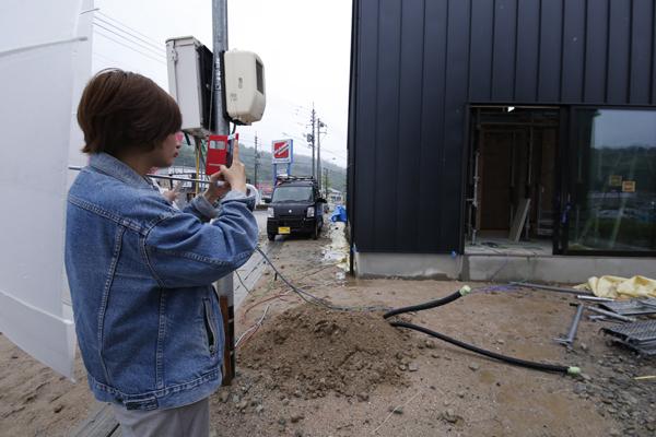 建物を撮影。企画を練る際のイメージをふくらませる材料に利用します。