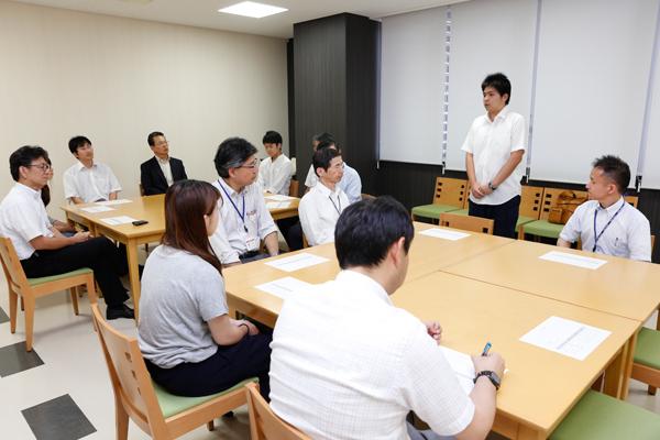 「派遣留学生に選ばれたことに感謝し、広島工業大学の代表として頑張りたいです」と坪井君。