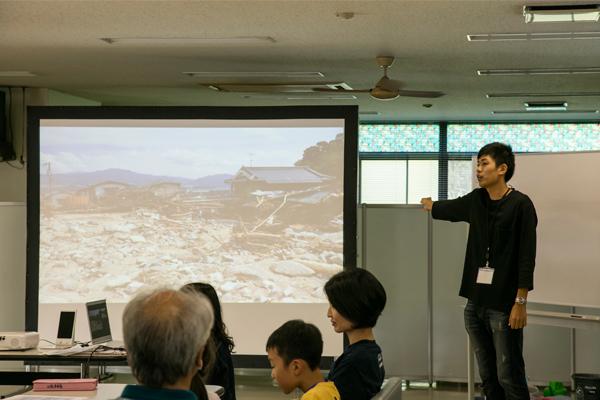 2014年8月に発生した広島土砂災害にも触れ、「まさ土」という崩れやすい地質と、「大丈夫だろう」という気持ちが、被害拡大の要因になったことを伝えました。