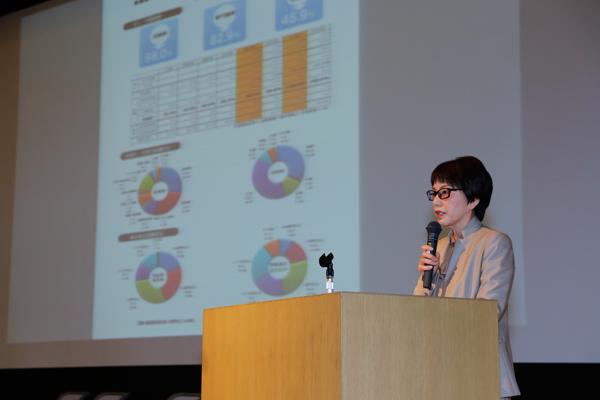 「1年生のときから、クラブ・サークル活動、ボランティアや留学など、企業にアピールできる経験を重ね、有意義な大学生活を過ごすことのできるように、ぜひご子女へ助言をお願いします」と福田就職部長。