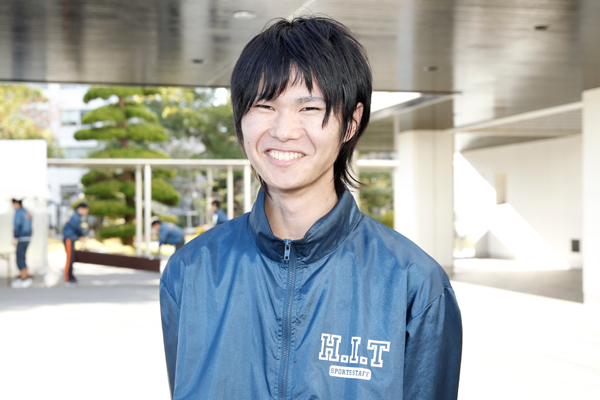 「初めて大きな行事の実行委員長を務め、思い通りにいかないこともありましたが、先輩や仲間に支えられて、無事に終えることができました。この経験を、今後にしっかり生かしていきます」と、実行委員長の島田純弥さん(機械システム工学科 2年)