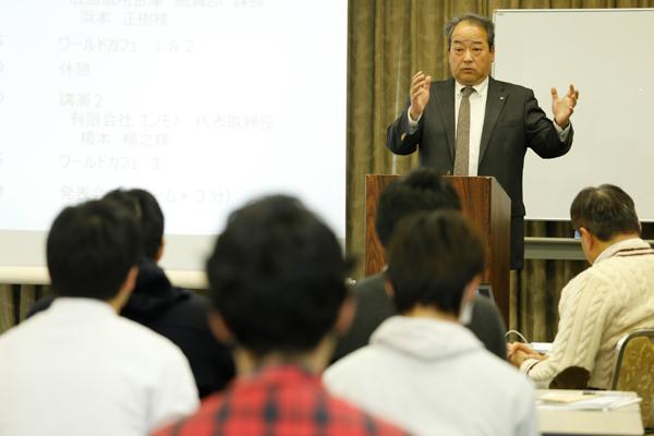 榎本さんからは、経営者としての経験から得たものをアドバイスしていただきました。「工大生はさまざまな企業で活躍しており、OB・OGがたくさんいるということは大学としての財産です。皆さん自信を持って就職時はその強みを生かし、良い就職を勝ち取ってください」