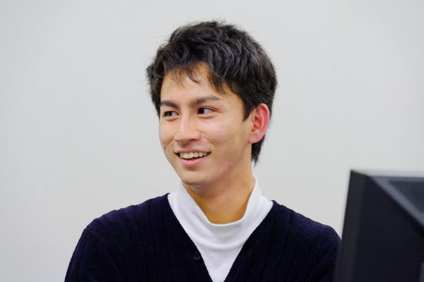 田中暁人さん<br />「この開発を通じて、講義では得られないものをたくさん学びました。システム開発に何が必要なのか、どんな人に向けてどういったサービスを作るのか、チームでどうやって進めるのかなど、すべてが貴重な経験でした」
