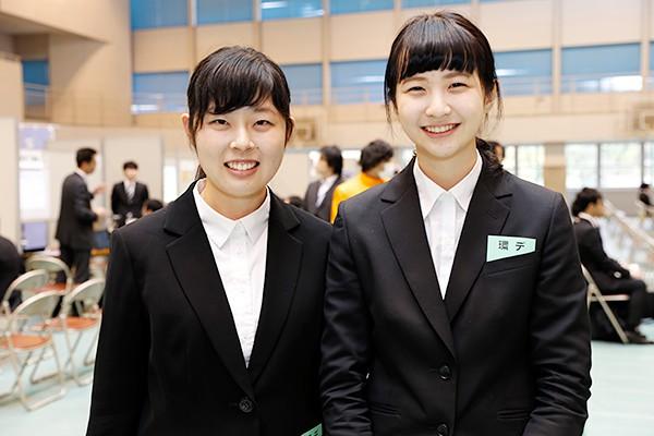 森田さん(左)「広工大の学生に向けた説明会なので、質問もしやすかったです」