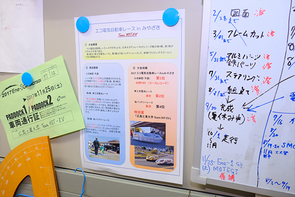 宮崎でのレースの結果をまとめたポスター