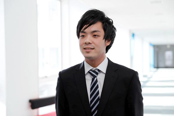 「就職活動への手厚い支援を感じ、広島工業大学でよかったなと思いました」と中川君。
