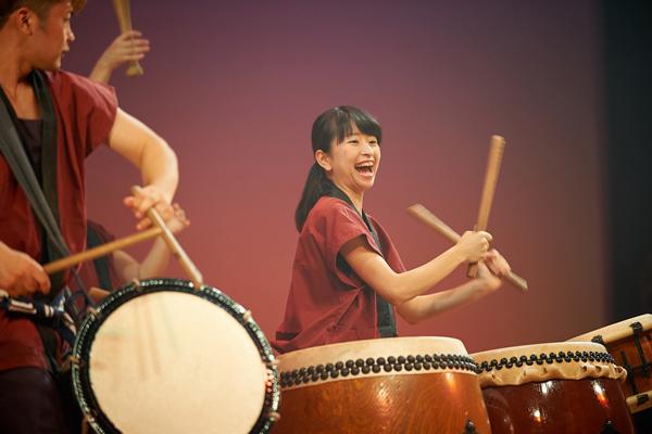 鼓遊会は「動き」「迫力」「楽しさ」あふれる演奏がモットー。「満員のホールは緊張しました」藤田拓海部長(機械システム工学科3年)