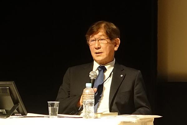 """大阪工業大学・西村学長「自分で考え、解決策を見出すための様々なプロジェクト活動を実施。人力飛行機、いわゆる""""鳥人間コンテスト""""などのイベントにも学生が主体的に参加しています」"""