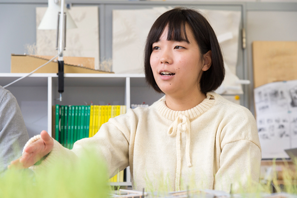 川岡さんは女子学生キャリアデザインセンター(JCDセンター)のメンバーとして、後輩の女子学生のサポートや、JCDセンターが企画するプロジェクトにも参加しています。