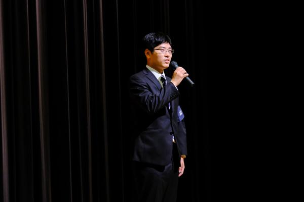 最後に、講演会担当者の体育会本部 上本慎一朗さんによるあいさつがあり、今年のスポーツ講演会は閉幕