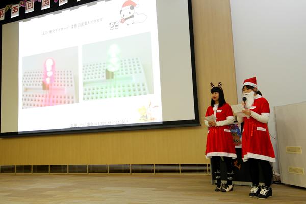 学生による説明は英語と中国語、スライドは日本語と、3か国語で作り方の説明を行いました。