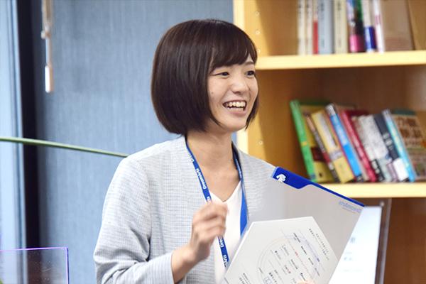 「昨年の『職場研究』で見学に来た広工大生が、今年のインターンシップに参加してくれました。当社のことを知った上で参加いただいているので、嬉しいですね」と蓑田さん。