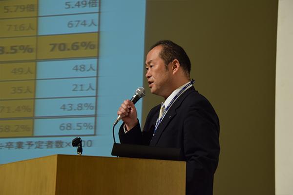 「売手市場とはいえ希望の就職を叶えるためには、企業が求める力を学生生活の中で養っていくことが重要」と豊田教授。