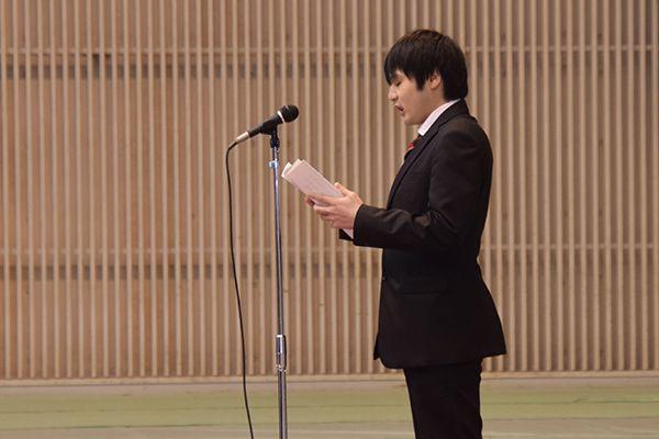 「先輩から学んだこと、受け継いだものをこれからの大学生活に役立てていきます」と織田さん。