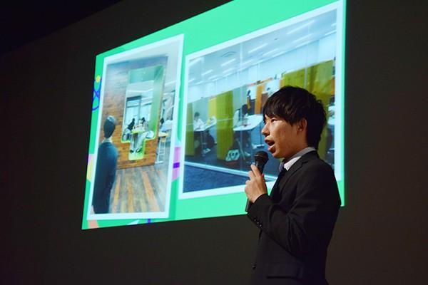 建築屋は広島修道大学、安田女子大学などへ施設見学に行き、すでに改善の参考となるアイデア収集を開始しています。その実行力に、審査員からも好評価を得ていました。