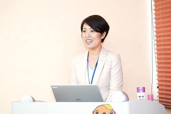 ご説明いただいたのは、人事担当の宮田香さん。