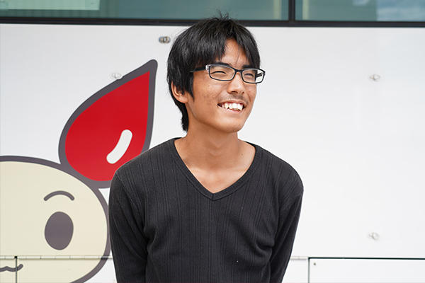 「次回の工大献血も協力する予定。難しく考えず気軽に参加してみてほしいですね」と松井さん。
