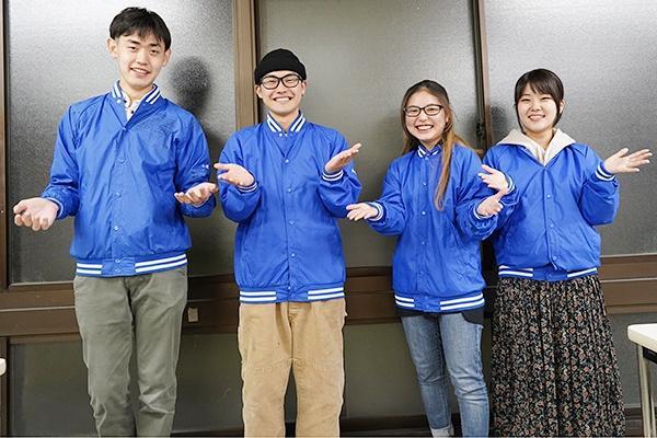 何かお困りごとがあった時は青いジャンパーを着た実行委員にお声がけください。私たちがサポートします!