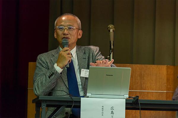 """「他の分野と比べて、海・山などの""""自然環境のIoT化""""は著しく遅れています。これを解決したい」と意気込む、広島工業大学・IoT技術研究センターの濱﨑センター長。"""